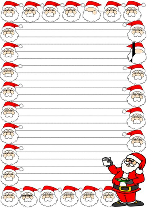 Christmas Themed Lined Paper And Pageborders 2 By Jinkydabon Teaching Resources Tes Border Paper Template 2