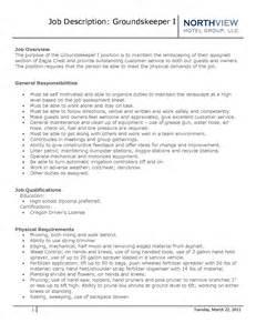 Resume Objective For Groundskeeper Bestsellerbookdb