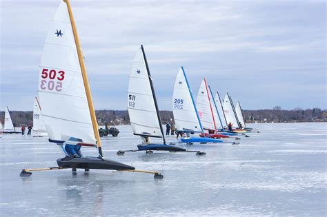 ice boat quot ice boating in door county could use a return to the