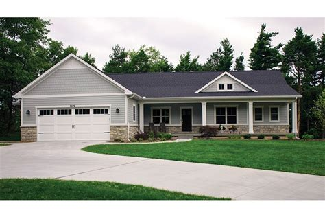 house plans ranch walkout basement open plan ranch with finished walkout basement hwbdo77020