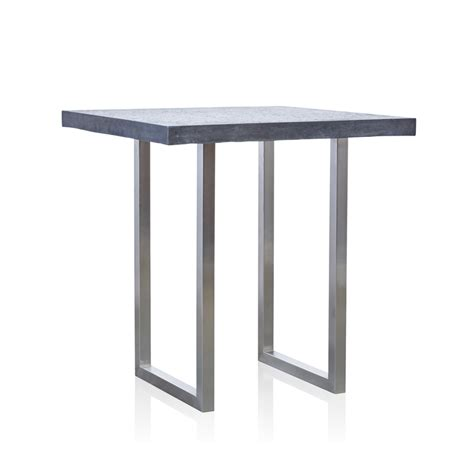 Small Bar Table Grc Square Bar Table Small In Black Gloss With Stainless Steel Base 1 Trilogy Furniture