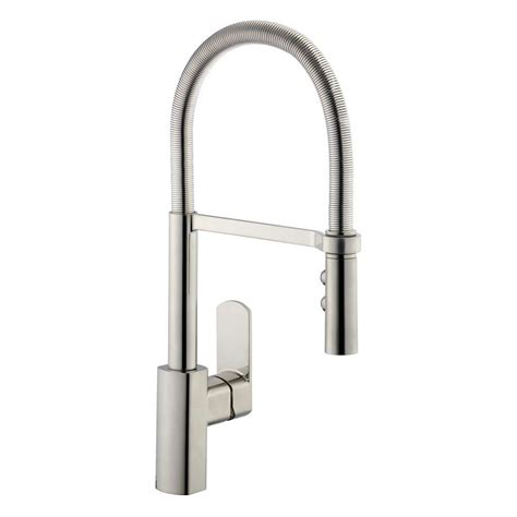 pegasus kitchen faucets pegasus 1250 series neck single handle pull sprayer kitchen faucet in stainless