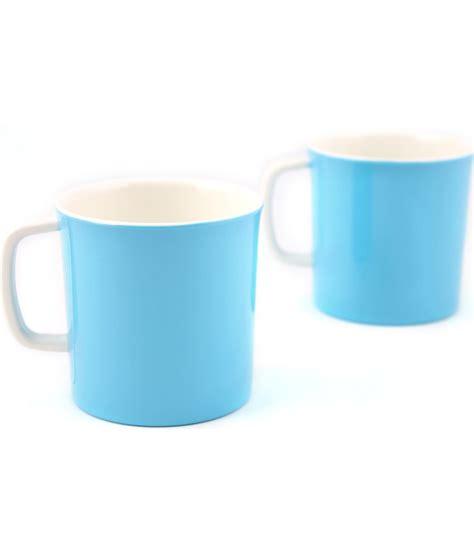 Buy Coffee Mugs Online India Hi Luxe Break Resistant Blue Melamine Coffee Mugs 2 Pcs