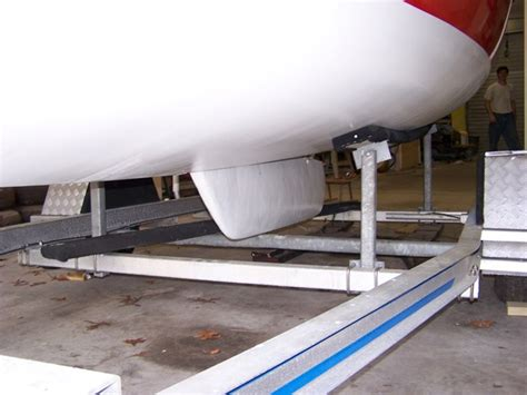 boat lift keel support it was downhill from there and here it is finally in place