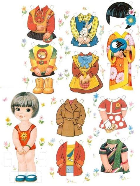 How To Make Cut Out Paper Dolls - les belles classic asian paperdolls