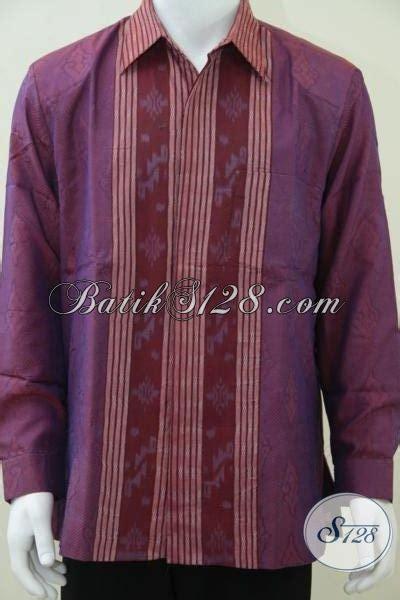 Baju Tenun Troso Jepara pakaian tenun pria modern kemeja tenun troso jepara