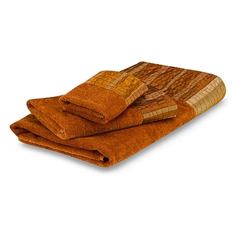 Copper Shower Curtain Avanti Sierra Bath Towel Collection In Copper Bed Bath