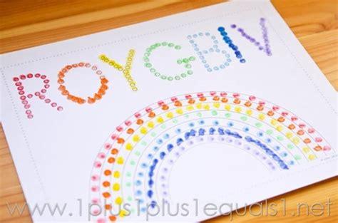 painting for preschool free rainbow q tip painting printables 1 1 1 1
