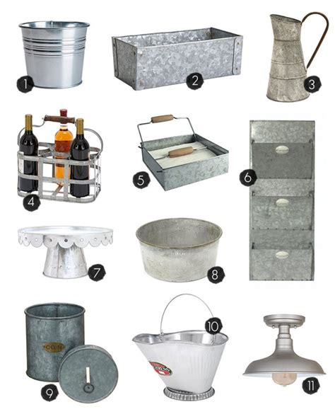 25 galvanized home decor and storage ideas live laugh