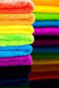 colored bath towels rainbow towel color rainbows