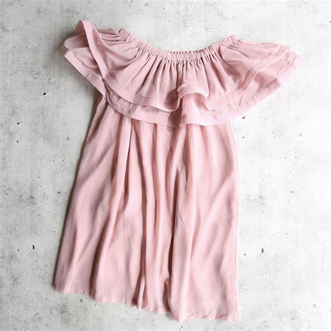 Frilled Shoulder Dress frilled to pieces the shoulder dress