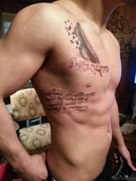 cute chest tattoos 39 feather tattoos on chest