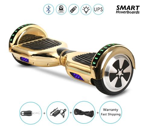 hoverboard with speakers and lights 6 5 quot gold hoverboard with bluetooth speaker and lights