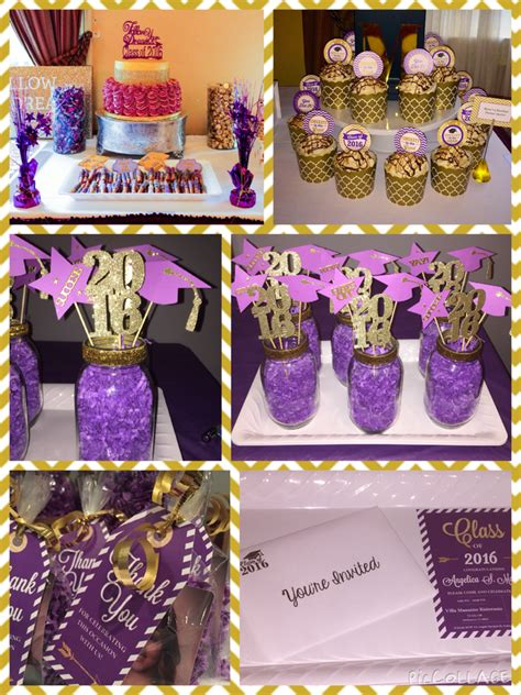 Purple And Gold Birthday Decorations by Purple And Gold Theme Graduation For Invitation