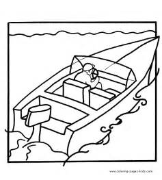Motor Boat Colouring Pages sketch template