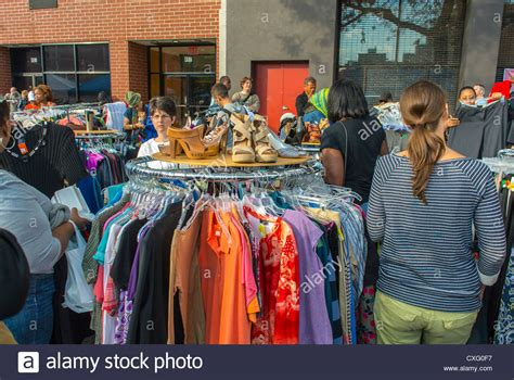 new york city usa shopping vintage clothing at
