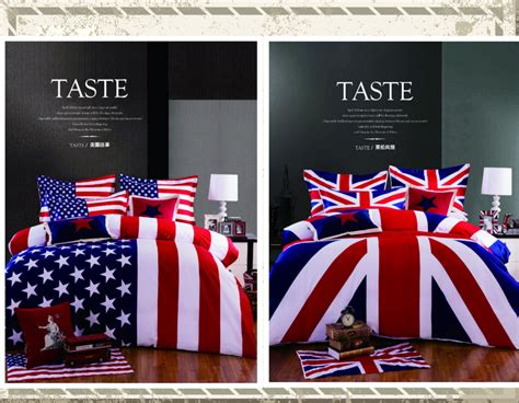 british flag bedding 3 4pcs 100 cotton american flag bedding set twin size usa uk flag bedding queen king
