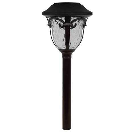home depot hton bay solar lights hton bay open stock led solar outdoor pathway light nxt