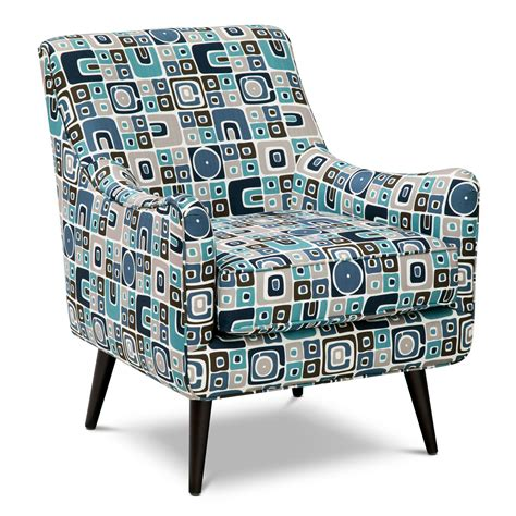 Teal Print Chair Calamar Teal Upholstery Accent Chair Furniture