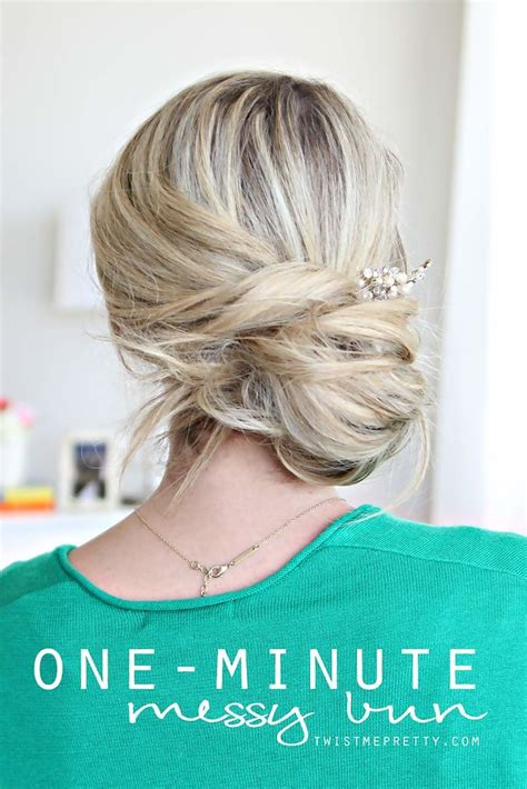 1 minute back to school hairstyles dailymotion one minute messy bun easy back to school hairstyles to