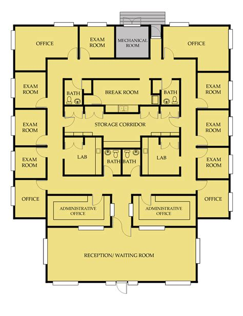medical office floor plan sles medical office floor plan pinteres
