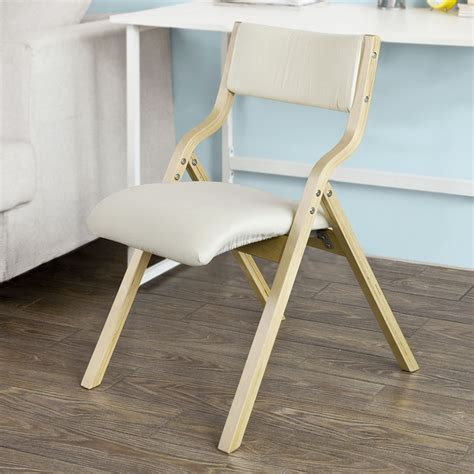 Folding Dining Chairs Padded Uk by Sobuy 174 Wooden Padded Folding Dining Chair Office Chair