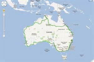 map around australia a map of dave alley s race around australia route abc