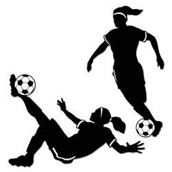 Girl Soccer Silhouettes - Partycheap Girl Soccer Silhouette Clip Art