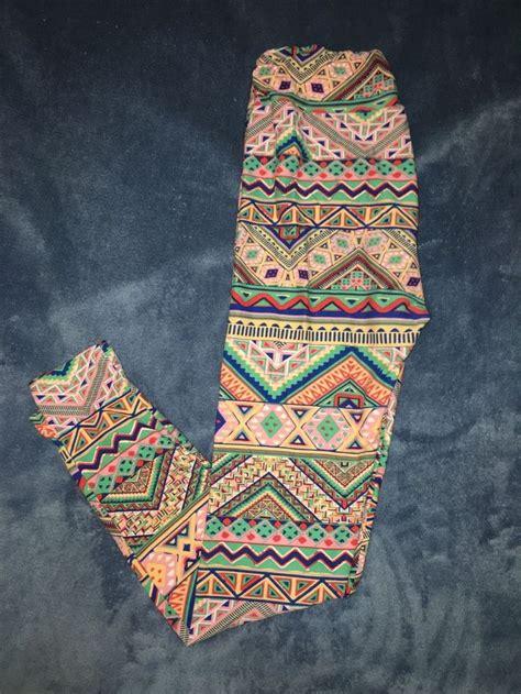 mint pattern leggings lularoe leggings os one size aztec mint pink pattern yoga