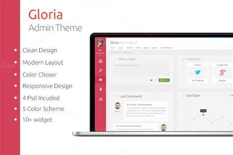bootstrap themes admin panel gloria admin panel bootstrap themes on creative market