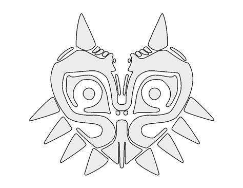 link majora s mask card template themed pumpkin stencils