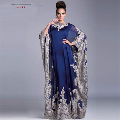 Kaftan One Souldel 1 moroccan kaftan 2017 new chiffon sleeves royal blue