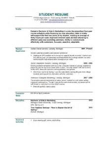 resume sles for college students resume templates easyjob