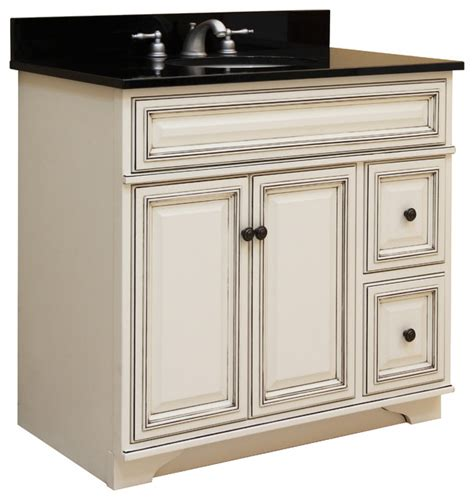 assembled bathroom cabinets sanibel 24 quot assembled vanity 1 door 2 drawers