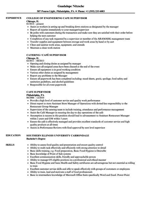 coffee shop resume sle proyectoportal