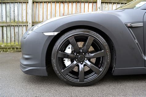 nissan gtr matte black gold rims matte black nissan gtr wrap reforma uk
