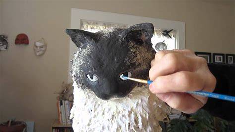 How To Make A Paper Mache Cat - how to paint a paper mache cat