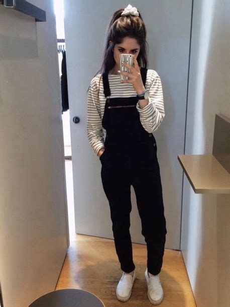 Selfie Overall Jumpsuit jumpsuit overalls romper black