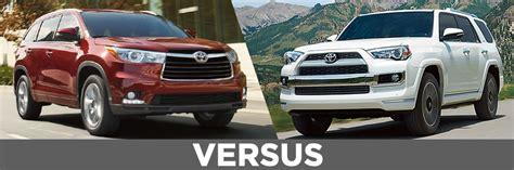 Toyota 4runner Vs Highlander New Toyota 4runner Vs Highlander Details Feature