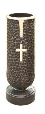 memory vase with cross bronze memorial vases