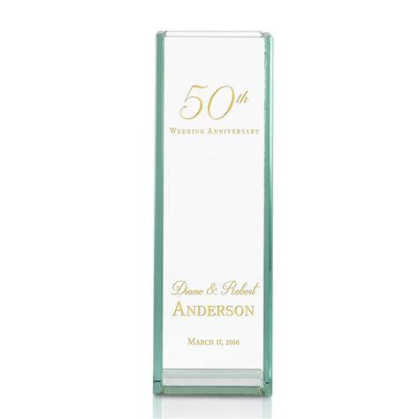 Wedding Anniversary Vase by 50th Wedding Anniversary Engraved Glass Vase