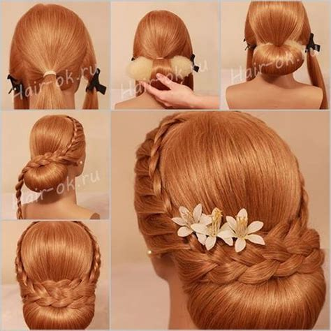 braids updo for hairstep by step how to diy elegant evening braid hairstyle www fabartdiy com