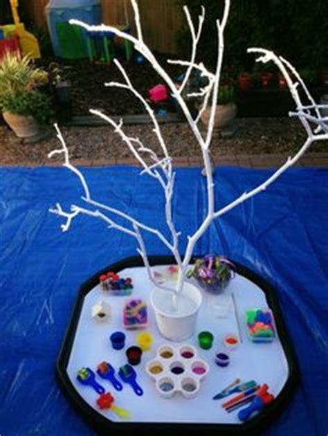 winter garden preschool make a winter sensory tray using rice flour
