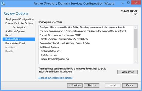 configure xp multiple domains install a new windows server 2012 active directory forest