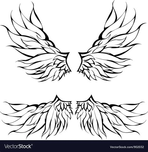 tattoo tribal wings designs vector tribal wings design royalty free vector image
