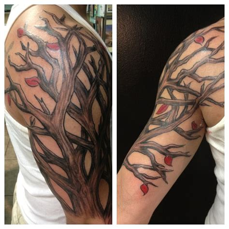 tree tattoos on arm arm tree design tattooshunt