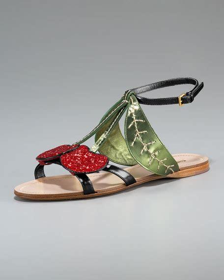 Flat Chery miu miu cherry flat sandal