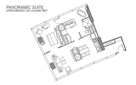 Vdara Panoramic Suite Floor Plan | vdara rooms suites