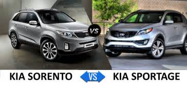 Difference Between Kia Sportage And Sorento Kia Sorento Vs Kia Sportage