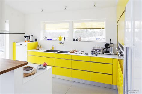 yellow kitchen white and yellow kitchens